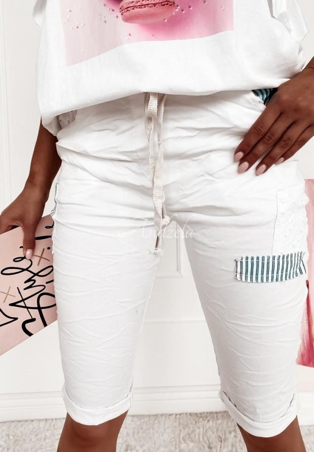 Spodenki  Jeans Almasa White