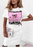 T-shirt Bicycle White