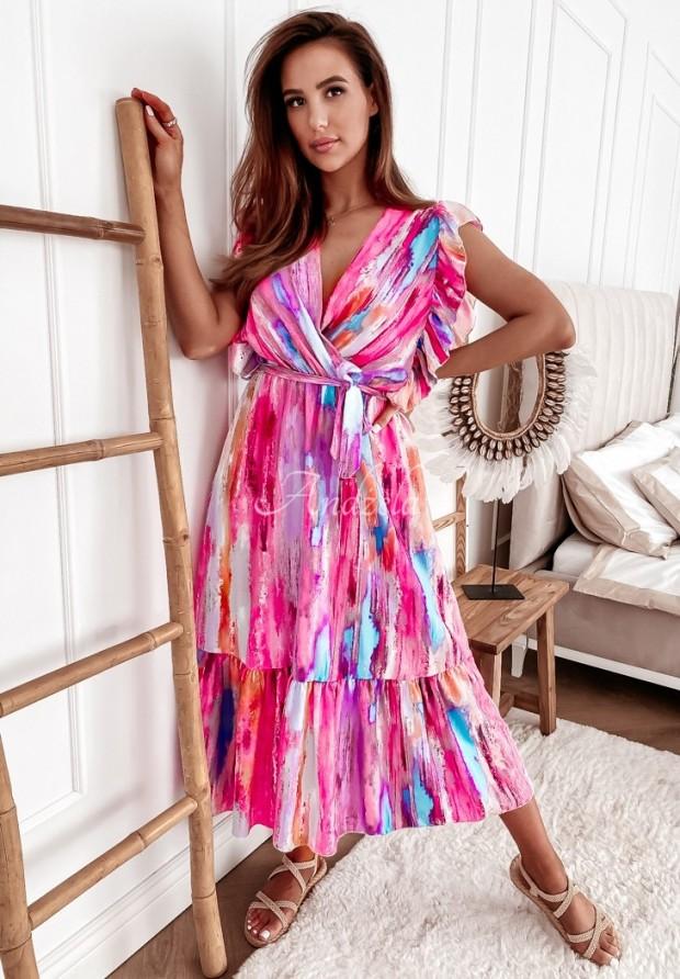 Sukienka Lonnie Long Pink
