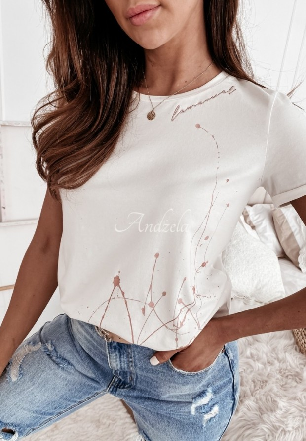 T-shirt La Manuel Flash White