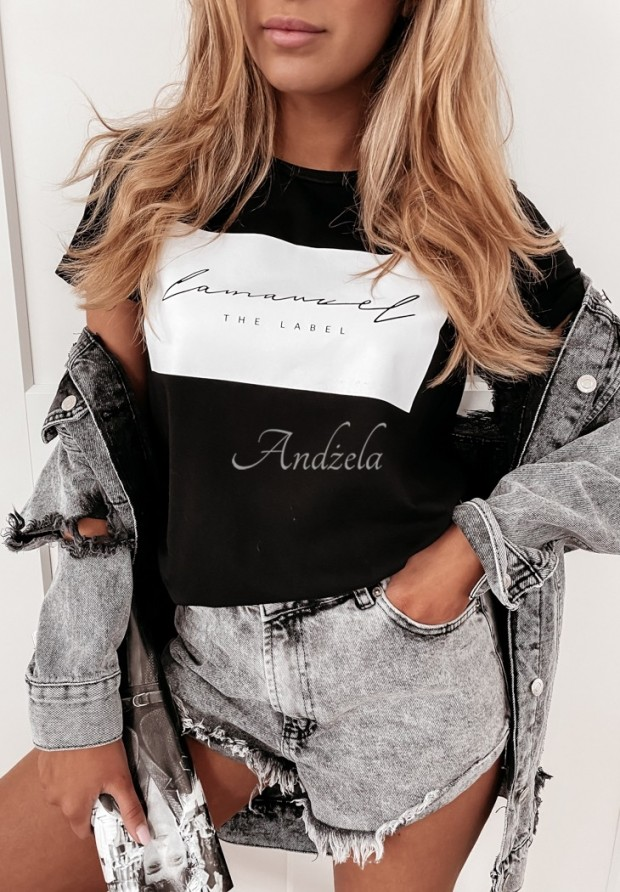 T-shirt Label Black