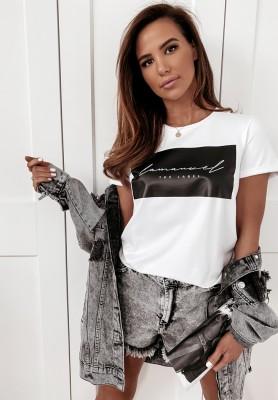 T-shirt La Manuel Label White