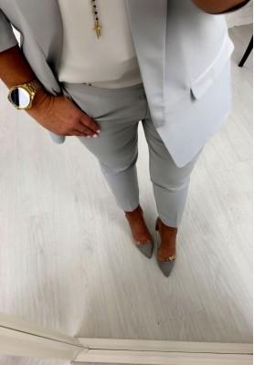 Spodnie Cygaretki Premium Szare