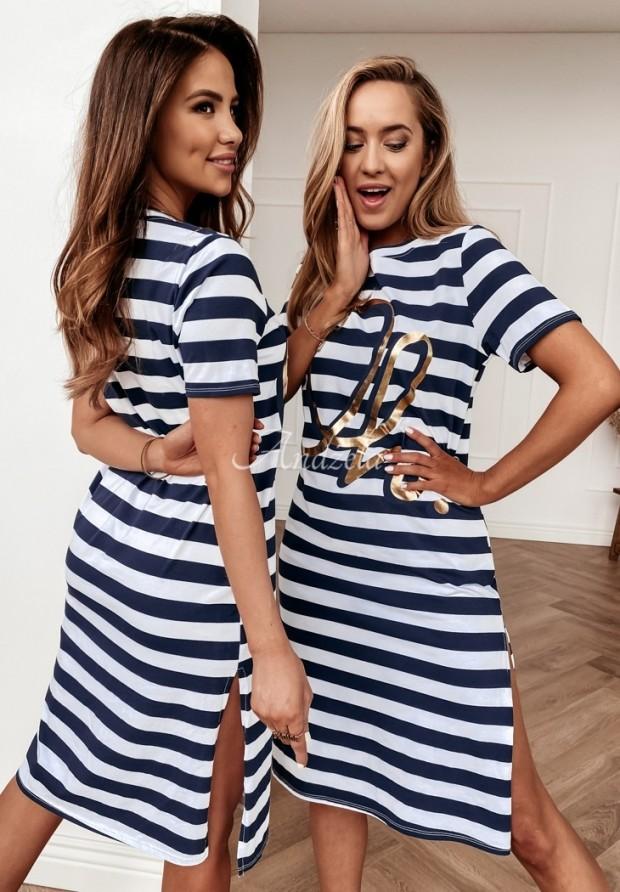 Sukienka Paski Lordena Navy