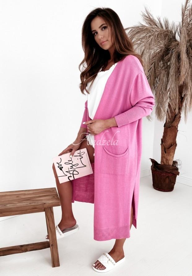 Sweter Kardigan Somena Pink