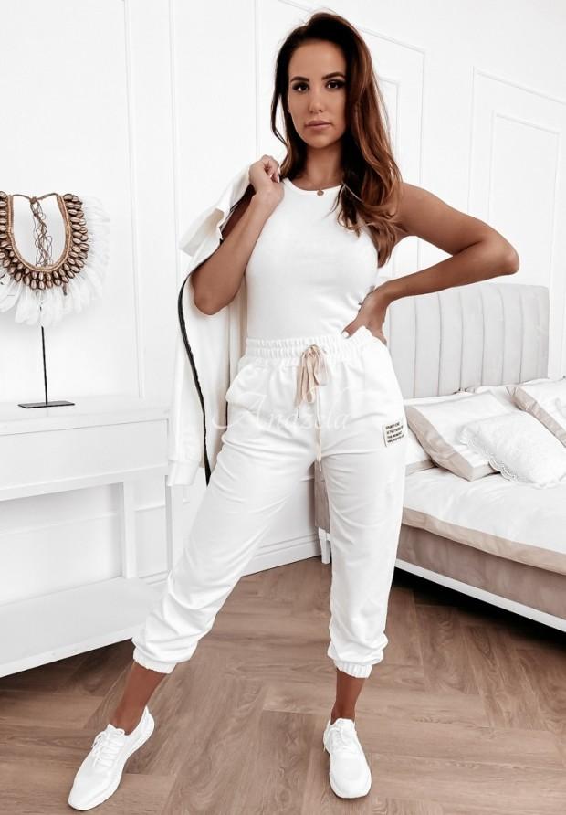 Spodnie Dresowe Sporty Chic White