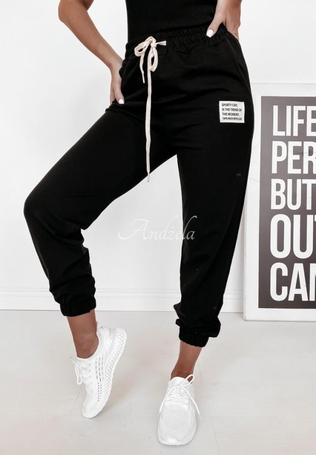 Spodnie Dresowe Sporty Chic Black