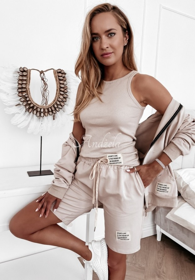 Top Sporty Chic Nude
