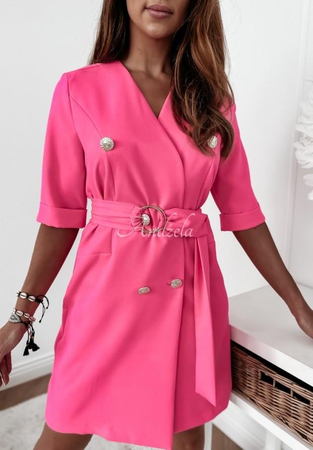 Sukienka Marynarka Estelle Neon Pink