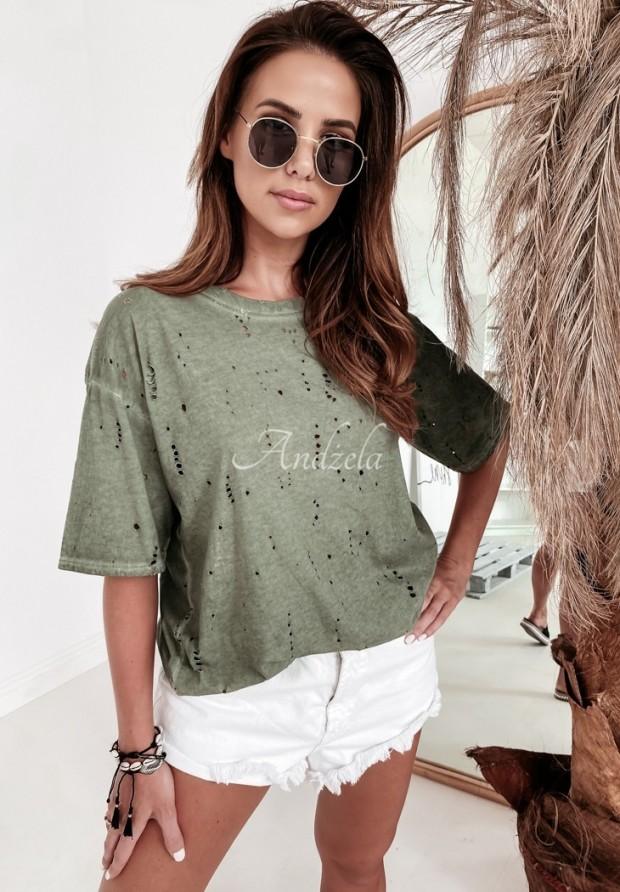 T-shirt Des Trous Khaki