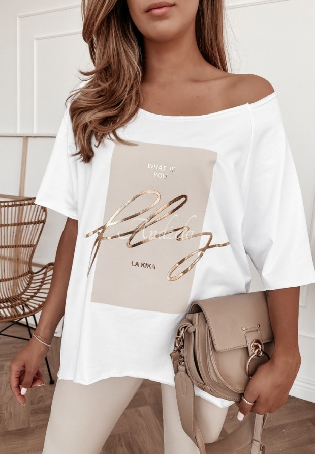 T-shirt Oversize What If White