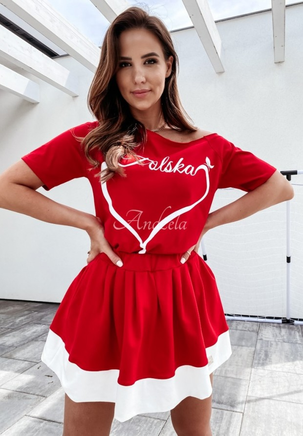 Spódniczka Cheer Red&White