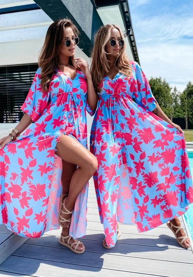 Sukienka Bergamo Blue&Pink