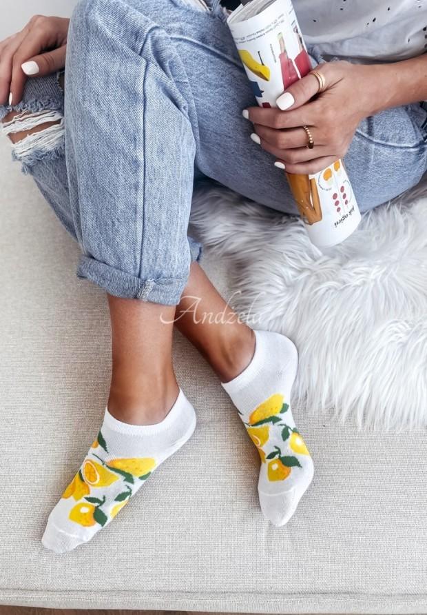 Skarpetki Lemon White