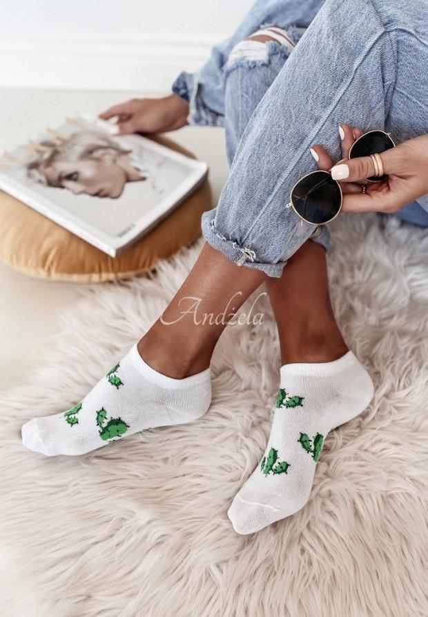 Skarpetki Cactus White