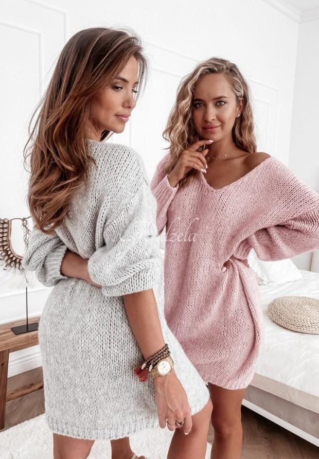 Sweter Sukienka Vilena Grey