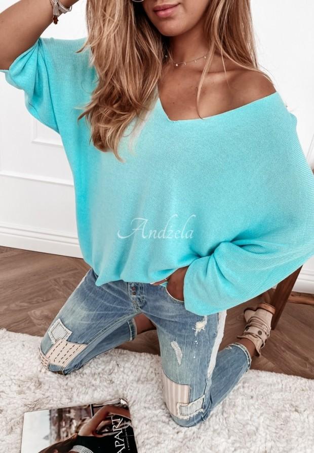 Sweter Nabia Turquoise
