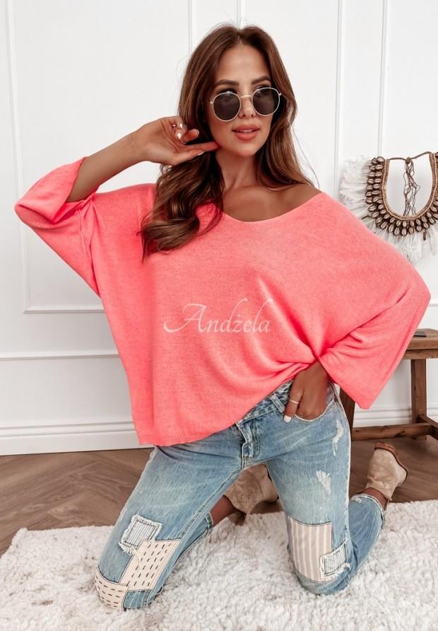 Sweter Nabia Neon Pink