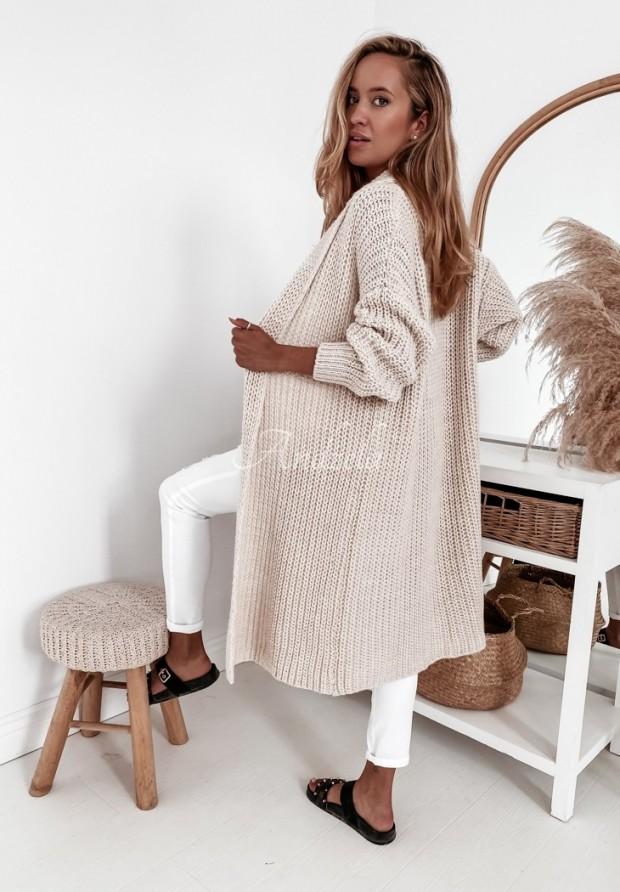 Sweter Kardigan Elodie Beige