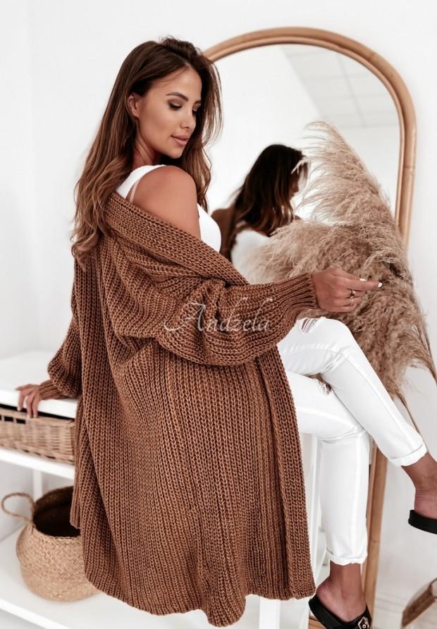 Sweter Kardigan Elodie Camel