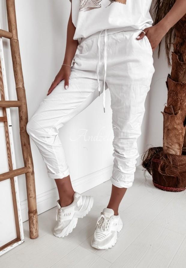 Spodnie Carine White