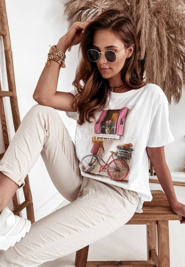 T-shirt Oversize Ventana White