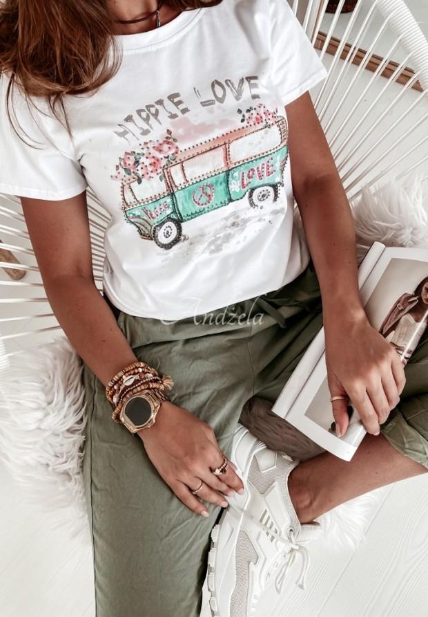 T-shirt Hippie White
