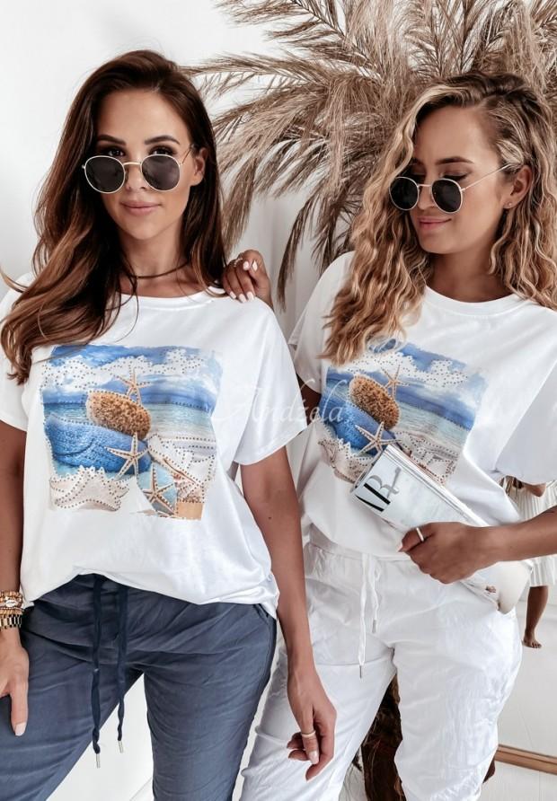 T-shirt Oversize Seaside White