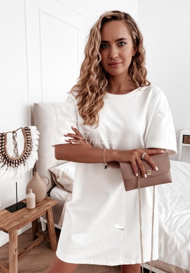 Sukienka Tunika Chain White