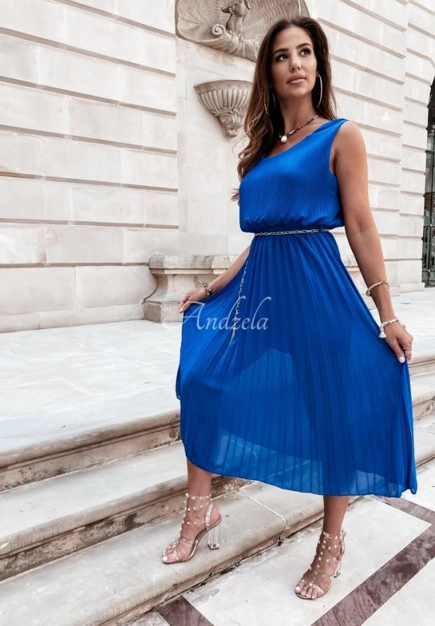 Sukienka Plisa Madelyn Cobalt