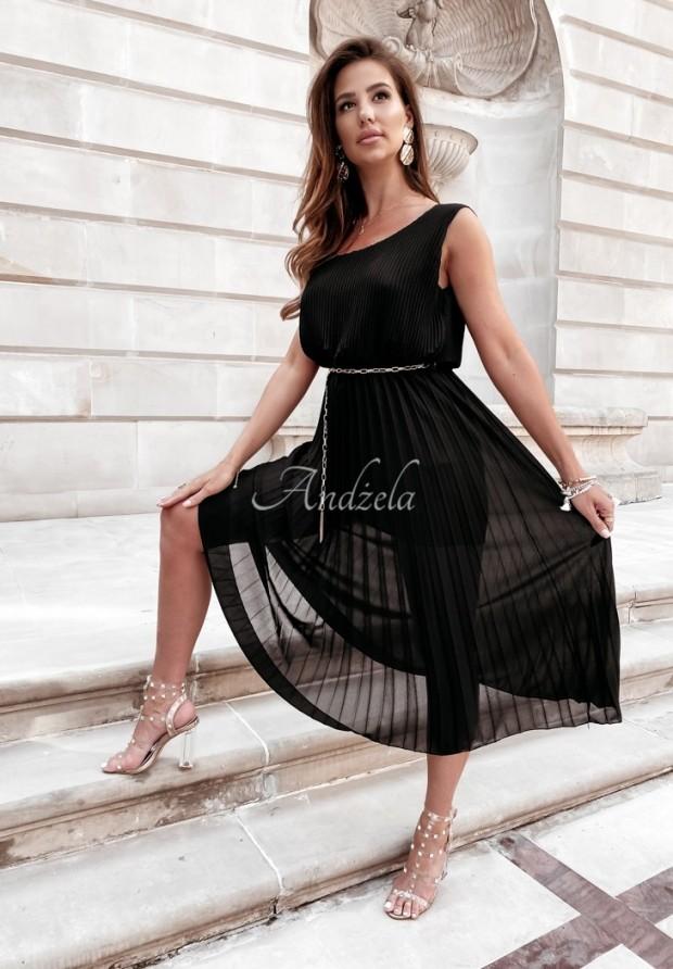 Sukienka Plisa Madelyn Black