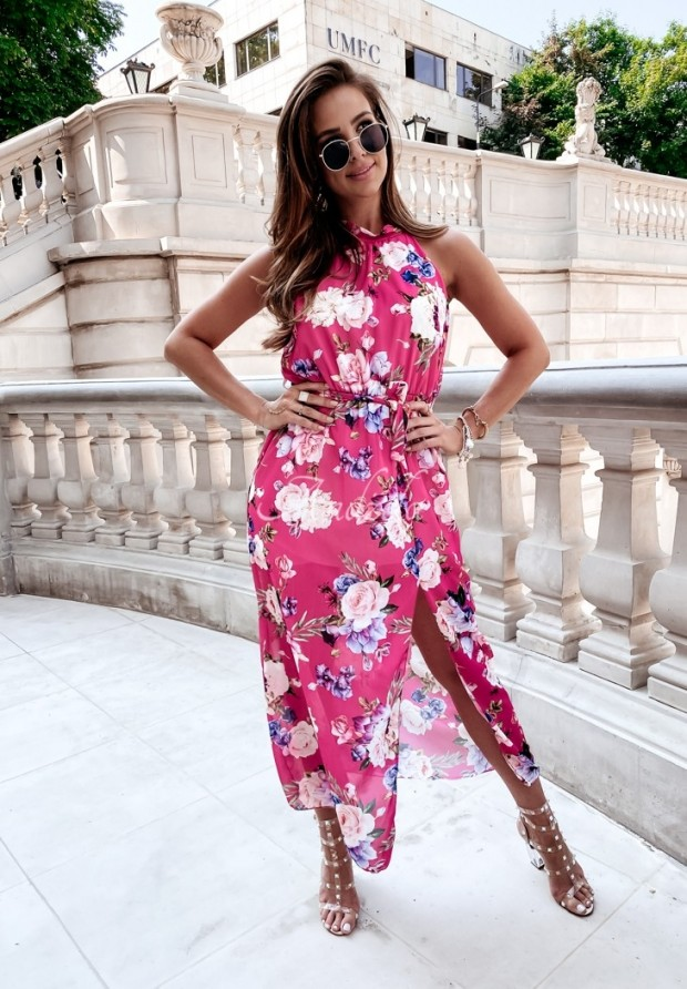 Sukienka Tillita Flowers Pink
