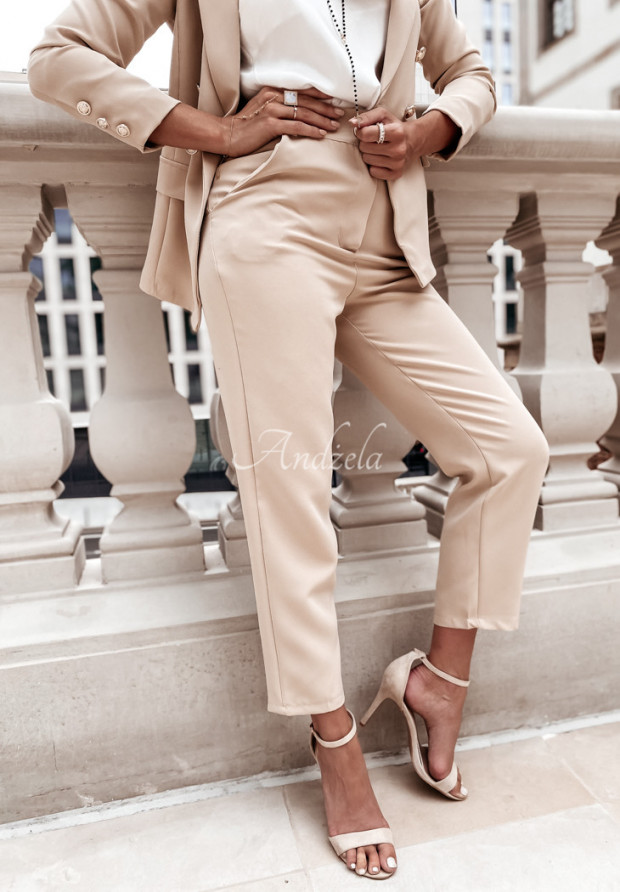 Spodnie Cygaretki Brassa Nude