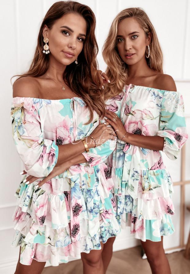 Sukienka Divive Mint&Pink