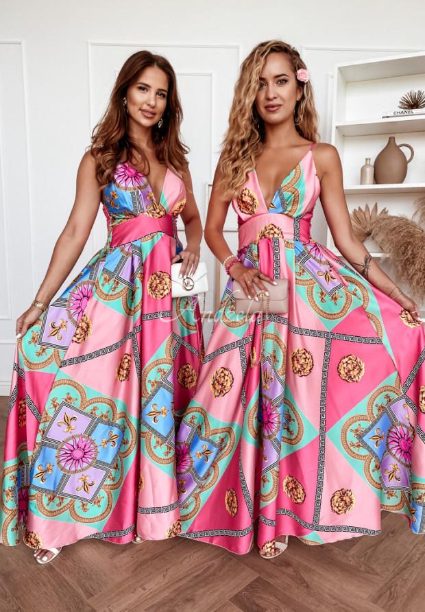 Sukienka Lioness Pink&Gold