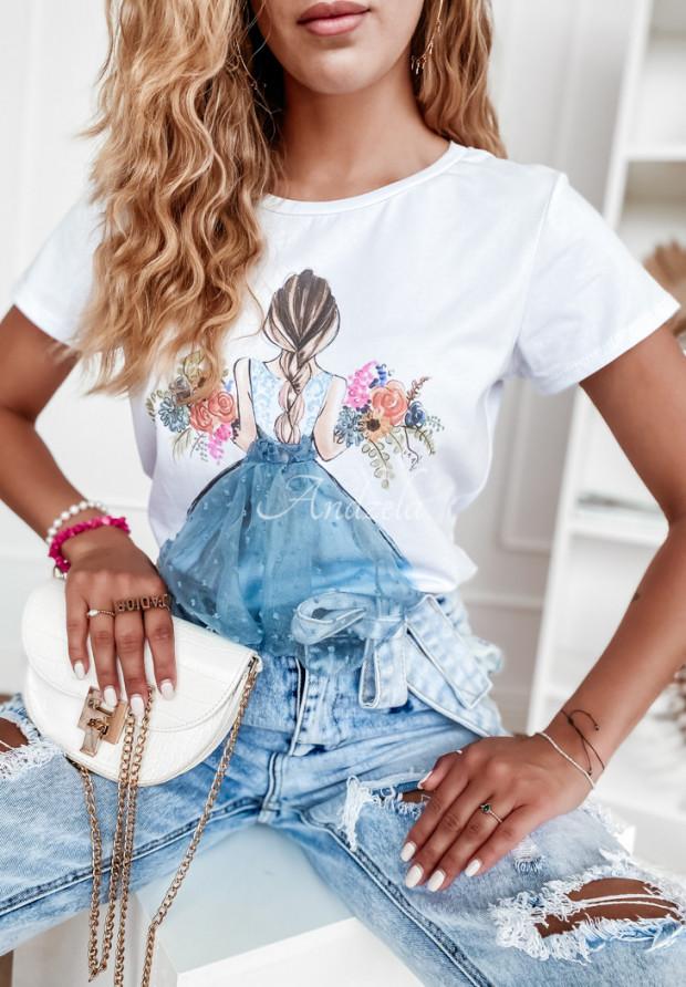 T-shirt Girly White&Blue