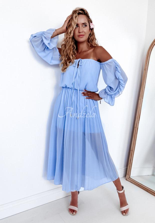 Sukienka Plisa Sorena Baby Blue