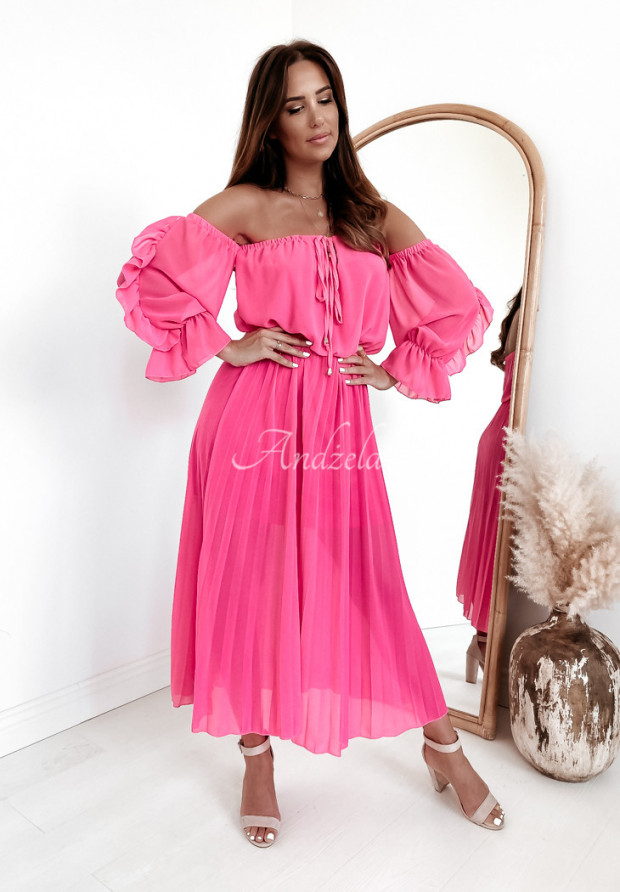Sukienka Plisa Sorena Pink