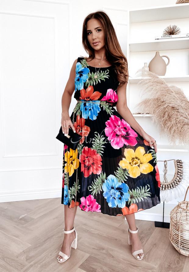 Sukienka Plisa Madelyn Floricia Black