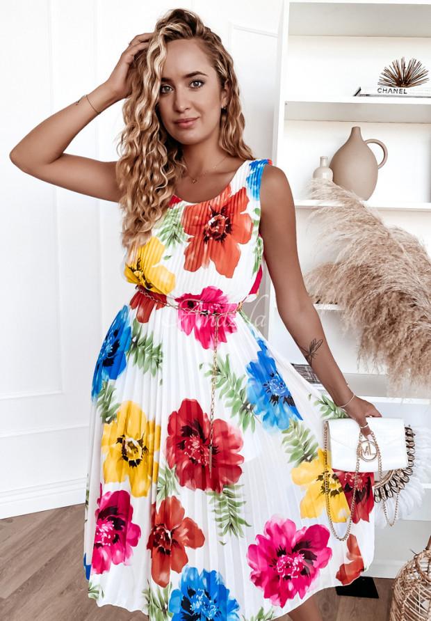 Sukienka Plisa Madelyn Floricia White
