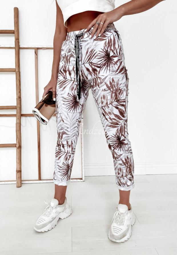 Spodnie Harwinton Palms White&Camel