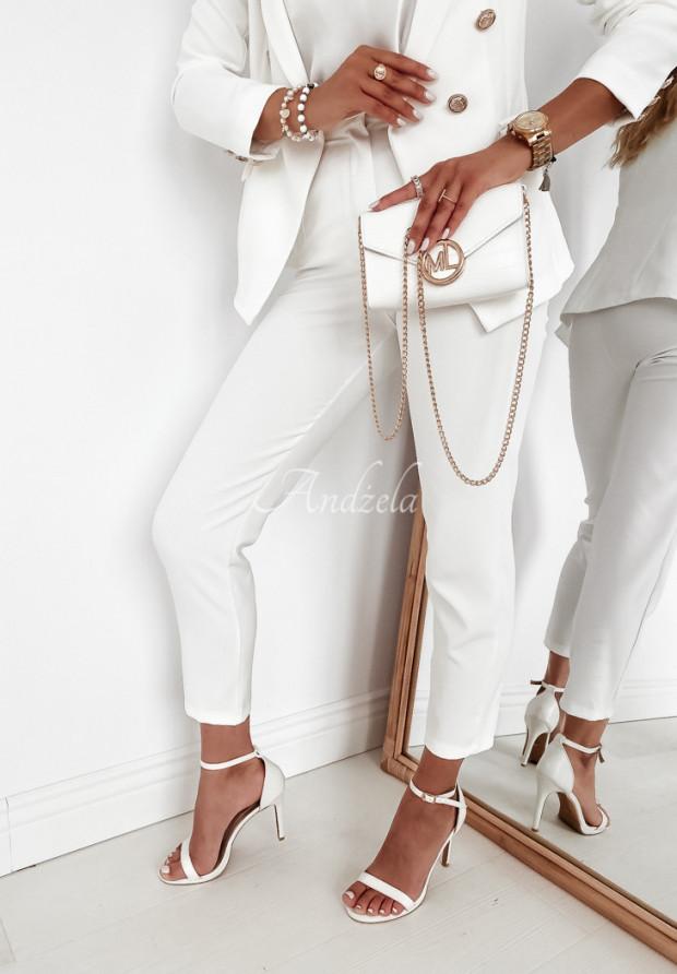 Spodnie Cygaretki Brassa Ecru