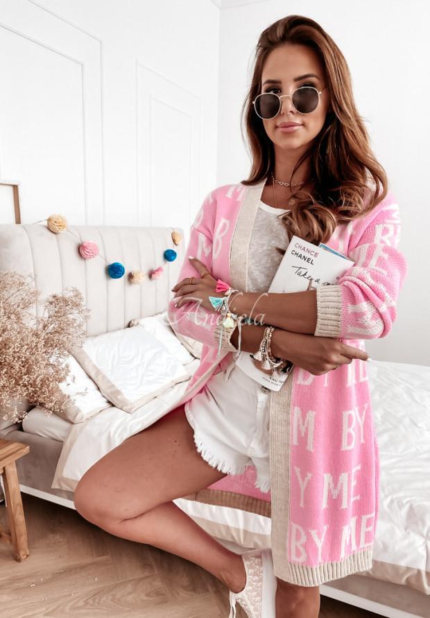 Sweter Kardigan Dolly Pink