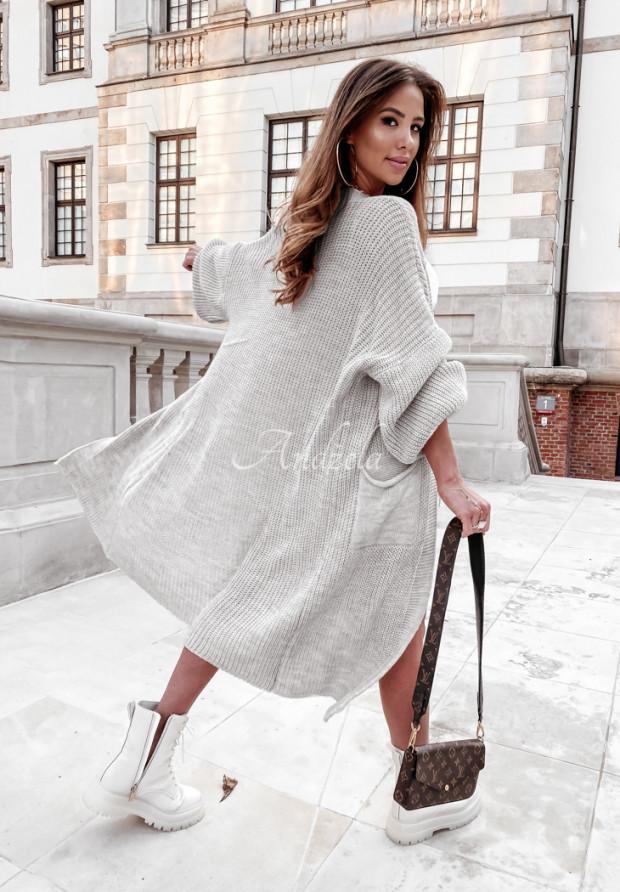 Sweter Kardigan Lomena Grey