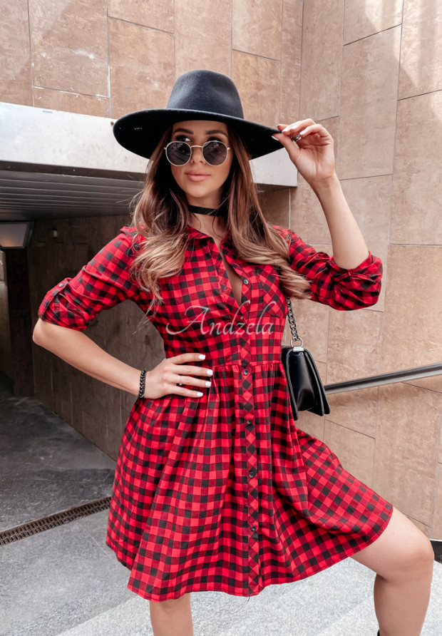 Sukienka Krata Gabby Red&Black