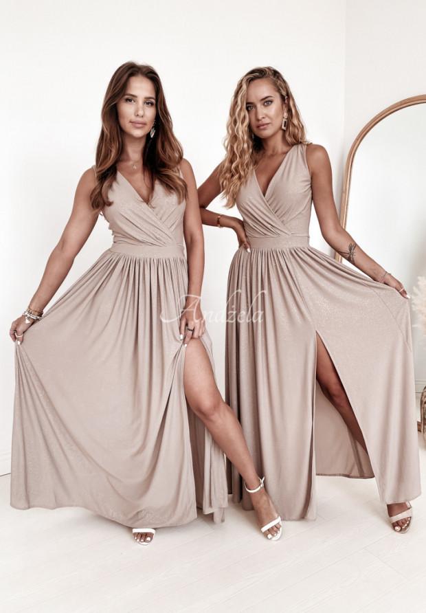 Sukienka Narcissa Beige&Gold