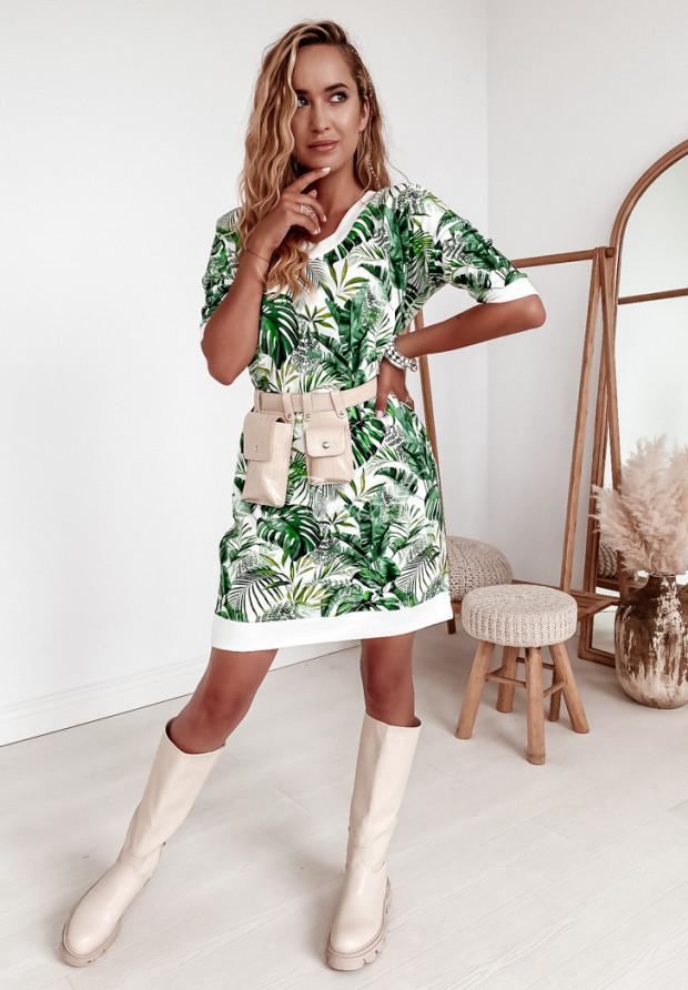 Sukienka Malika Jungle White