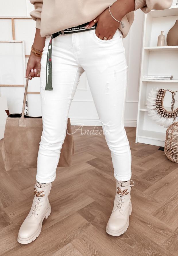 Spodnie Jeans Maple White