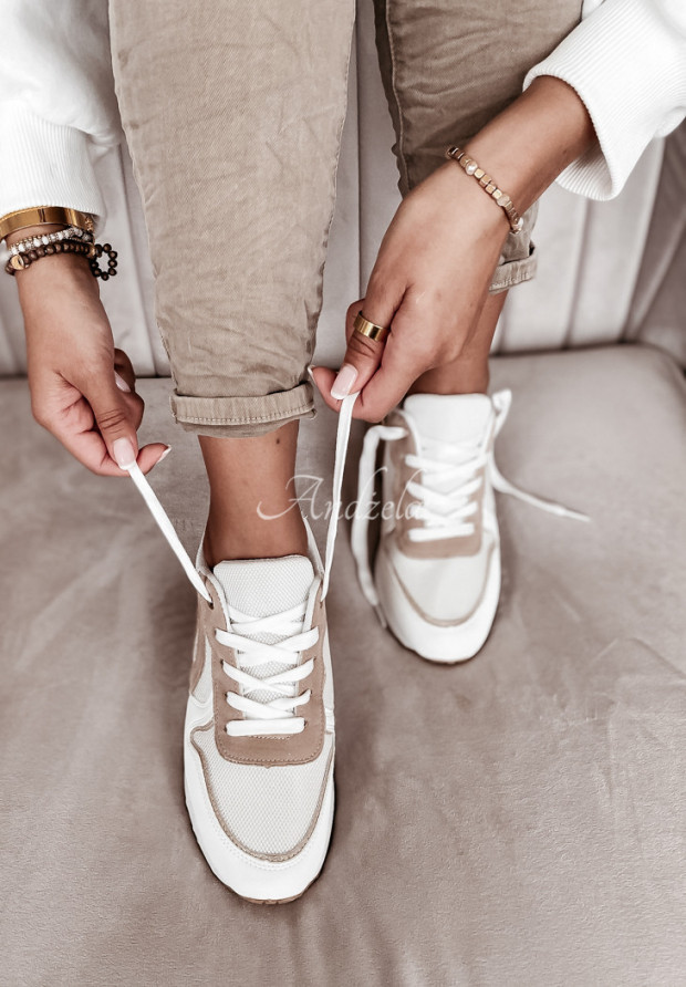 Adidasy Comfy White&Beige