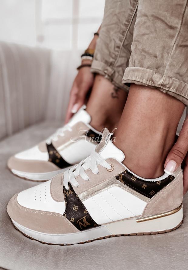 Adidasy Louvi White&Beige